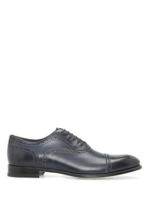Beymen Collection %100 Deri Bağcıklı Klasik Ayakkabı Lacivert